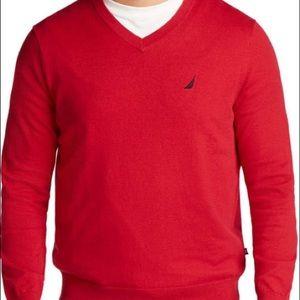 Nautica VNeck Red Sweater XXL